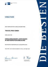 Urkunde Berufsausbildung 2009